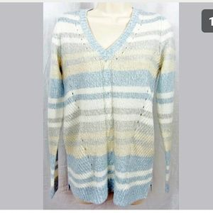 Sonoma XS Cable V Neck Sweater Pullover